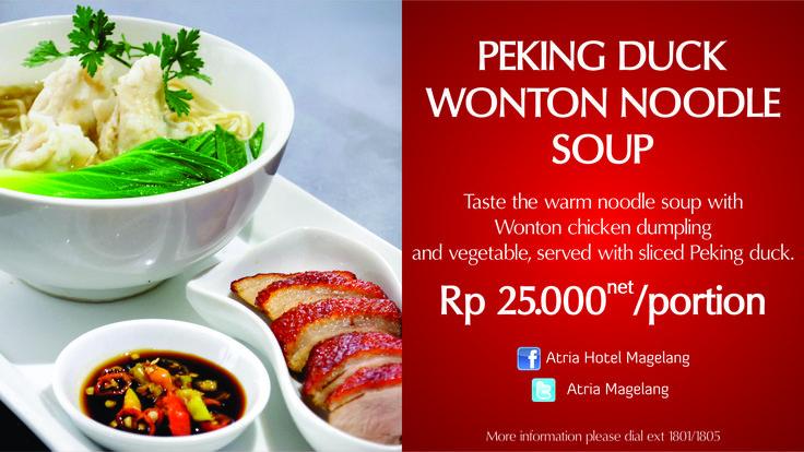 Peking Duck Wonton Noodle Soup
