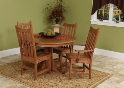 Copper Creek Single Pedestal Table : Kitchen / Dining : Tables : J  Woodcraft And Hannahu0027s Home Furnishings