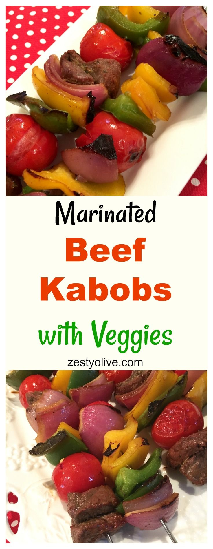 Marinated Beef Kabobs with Veggies