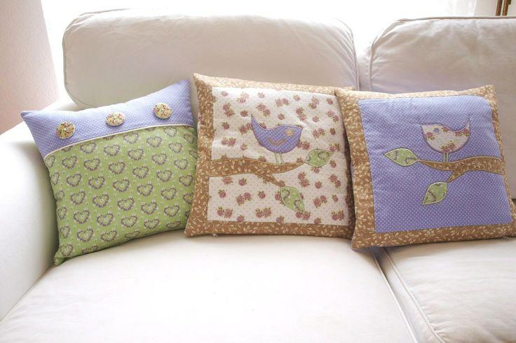 pillows with birds, Love Colors by Julianna Rencés Kovács