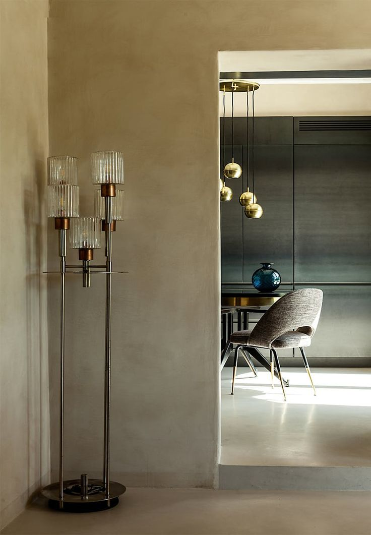 Hand-picked beauty of a floor lamp from the 1950's. Sculptural and sensually.