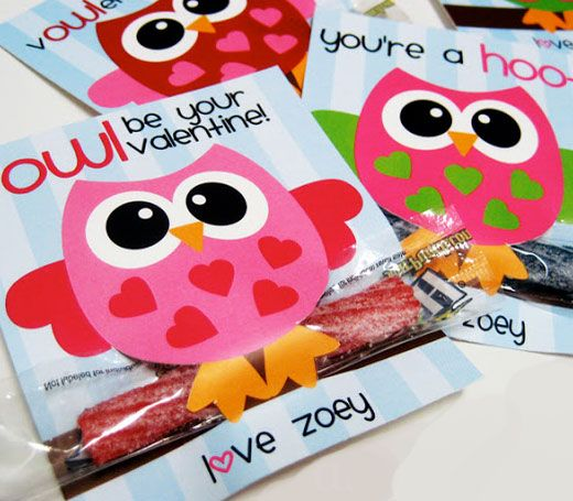 Click Pic for 25 DIY Valentines Day Cards for Kids | Owl Cards | Easy-to-make homemade Valentine's Day Cards
