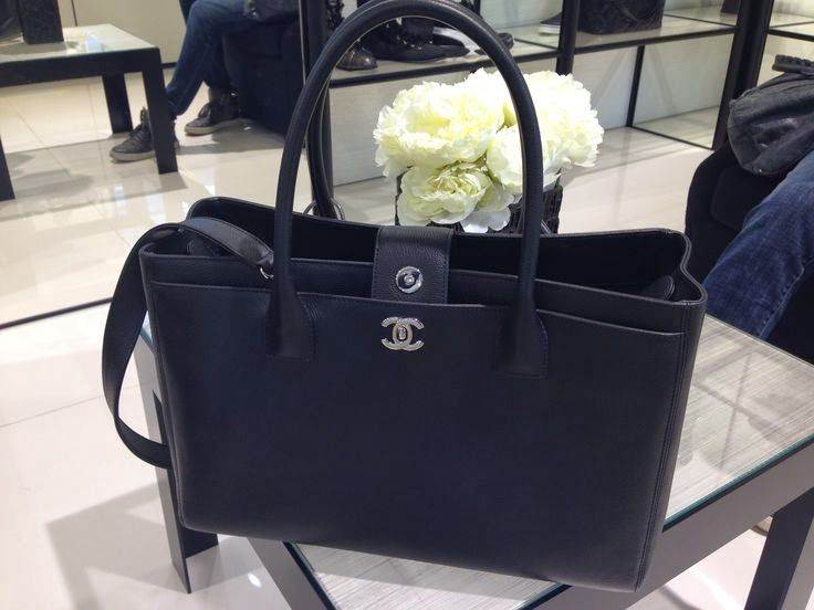 Chanel Executive Tote Black with silver hardware