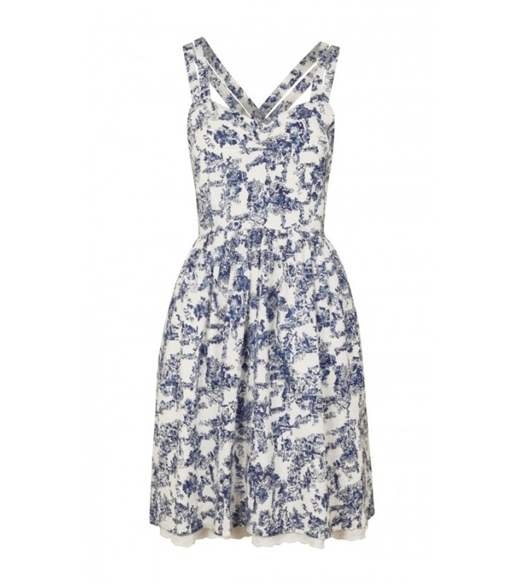 Ornamental blue and white prints were huge on the SS13 Catwalks. How pretty is this Bridey Blue dress.