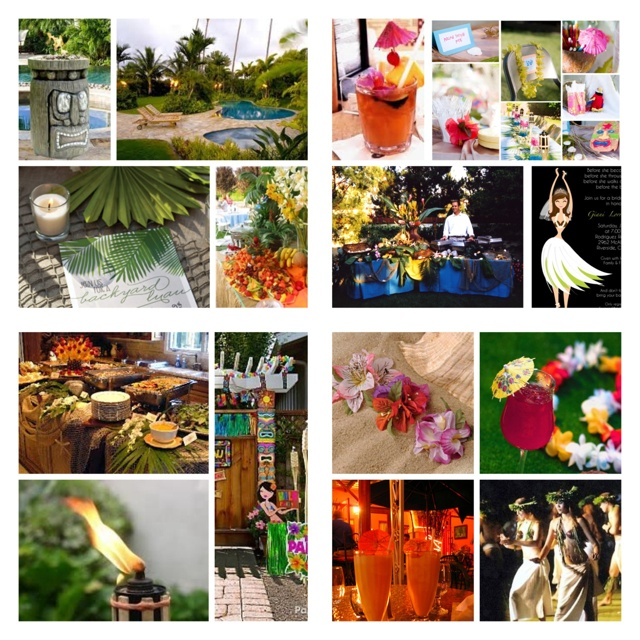 chris nichole 39 s backyard wedding shower luau