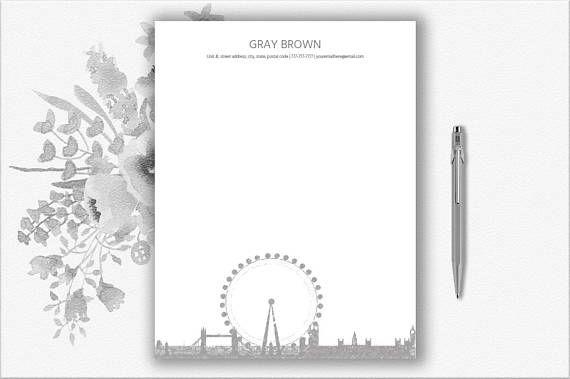 London Design Letterhead Template Download  Creative
