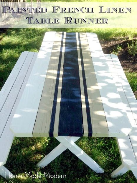 small picnic table redo, if I had a picnic table :)
