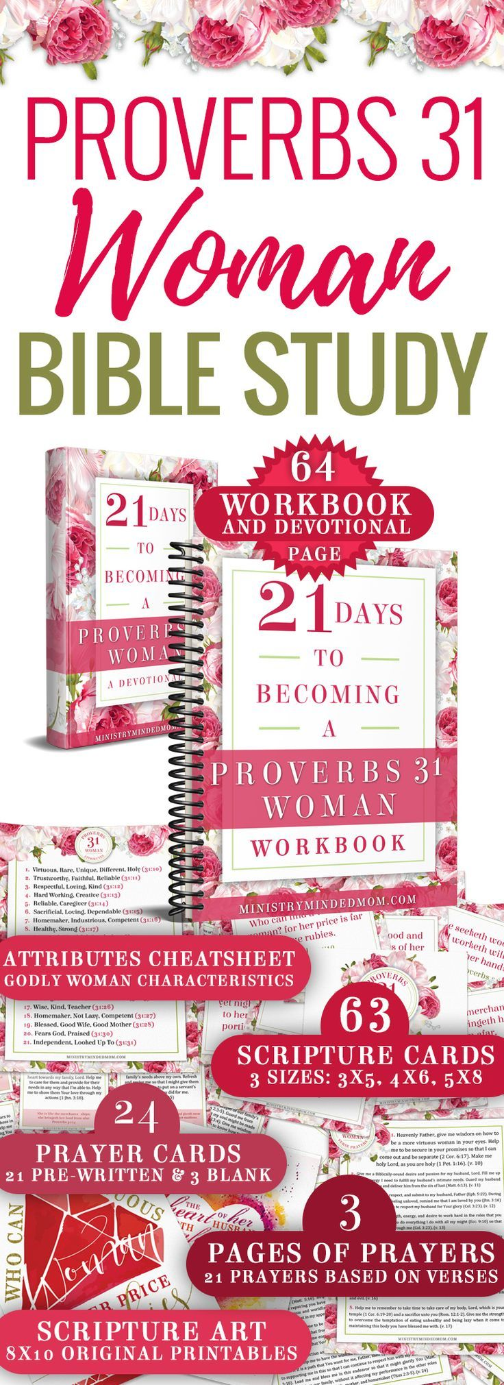 Being a virtuous woman seems intimidating. But it doesn't have to be! This Proverbs 31 Woman Bible study toolkit has everything you need to dive deep into your studies and learn how to be a Proverbs 31 woman. / proverbs 31 woman bible study / proverbs 31 bible study / virtuous woman bible study / how to be a proverbs 31 woman / how to be a virtuous woman via @ministrymindedmom