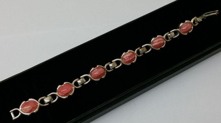 Vintage Armschmuck - Armband Silber 835 Rhodochrosit Vintage alt SA236 - ein Designerstück von Atelier-Regina bei DaWanda