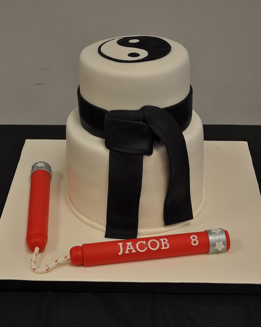 Karate Cake! | Bk's favorite so far, has the belt & ying yang
