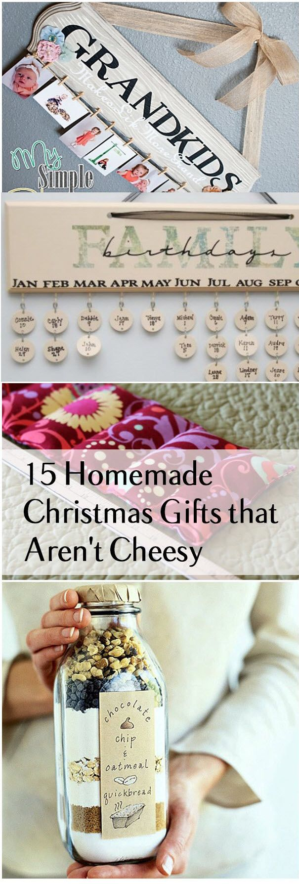 15 Homemade Christmas Gifts That Aren't Cheesy                                                                                                                                                                                 More