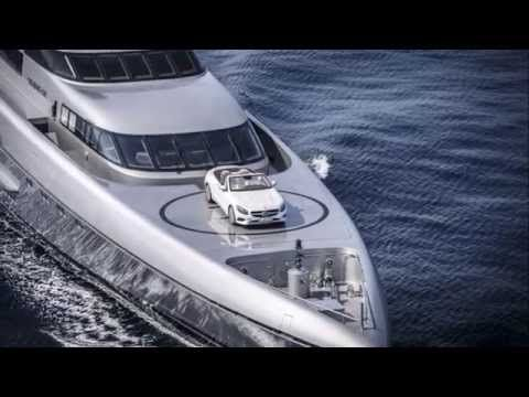 Silver Fast Yacht $90,075,000 and Mercedes-Benz S500 Cabriolet 2016 ⋆ LUXURY ⋆