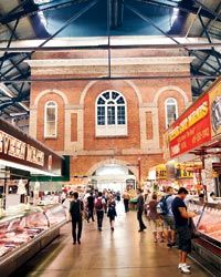 "St Lawrence Market (scroll down to section titled ""Market tour with David Chang"")."