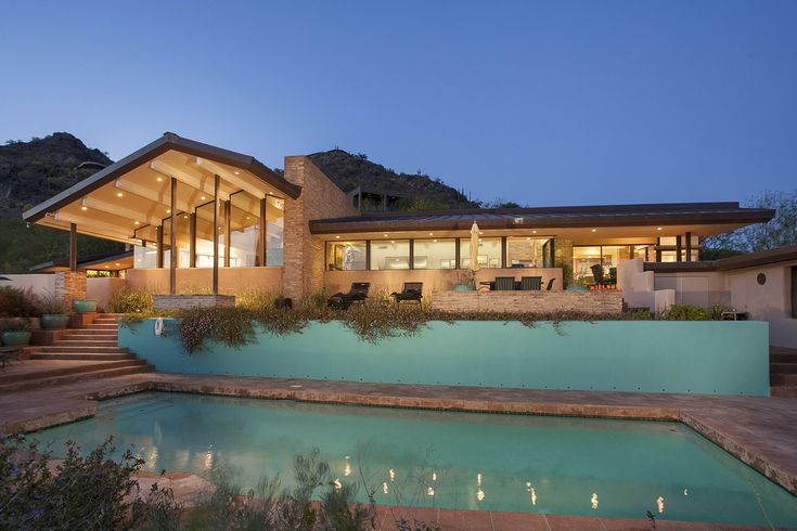 The owners, Penny Post and her husband Richard Post, bought this midcentury modern-style home in Paradise Valley, Ariz., for $950,000 in 1998, according to public records. Built in 1969 and designed by Paul Christian Yaeger, the home was renovated in 2003 but remains faithful to the architect's original design, Ms. Post said.