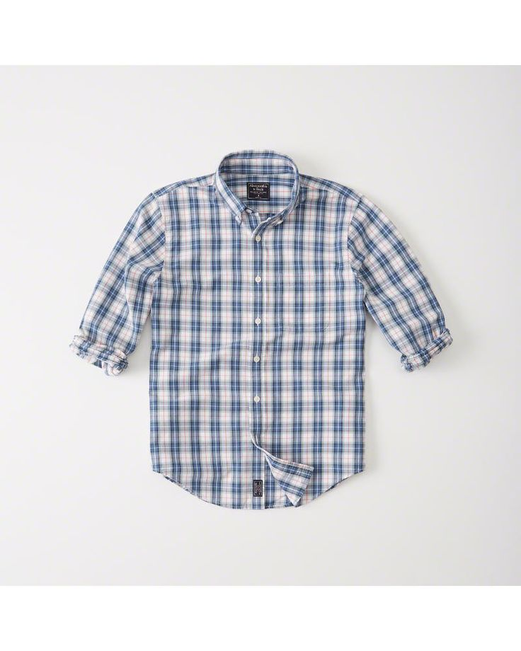 A&F Men's Oxford Shirt in Blue - Size XXL