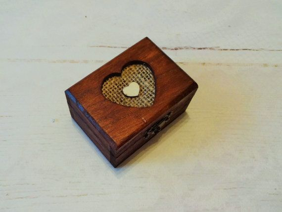 Wooden Engagement Ring Box Small Proposal by GracesLacesWedding