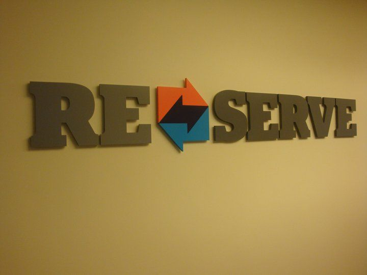 Cut Acrylic Letters And Logo Painted Semi Gloss And Mounted With Standoff  Onto Wall In
