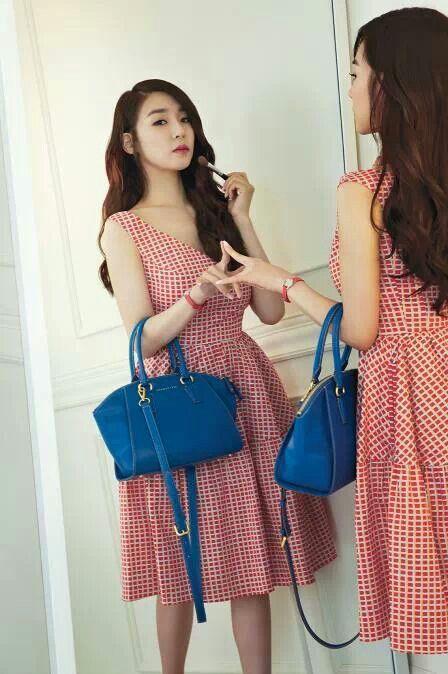 Red 체크 OP_BLUE BAG