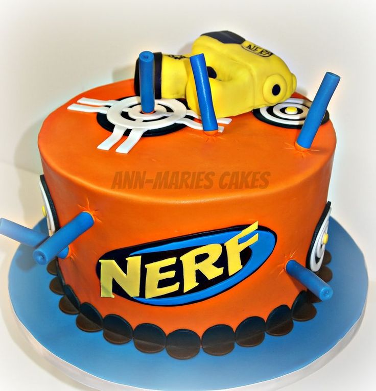 In Nerf Cake Al Children S Birthday Cakes Cakepins Com