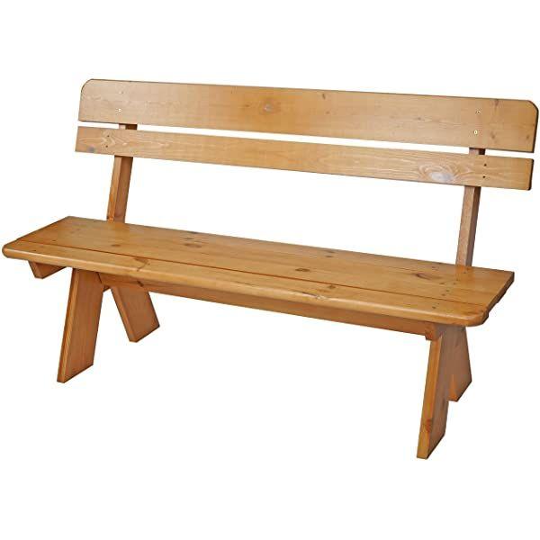 Amazon De Outflexx Gartenbank Grosse Sitz Bank In Natur Rustikal Geburstet Gartenbank Aus Teak Holz Holzbank Ca 160x73cm Wooden Bench Dining Bench Bench