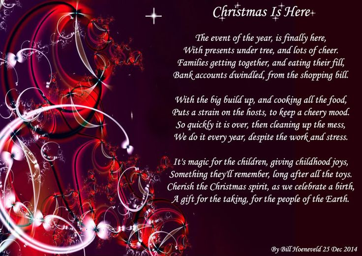 Christmas Is Here - Holiday Poems