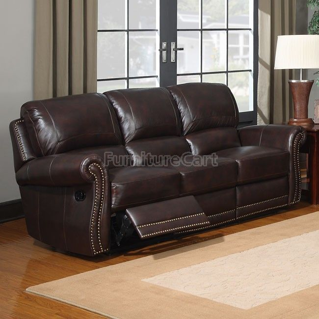 James Reclining Leather Sofa