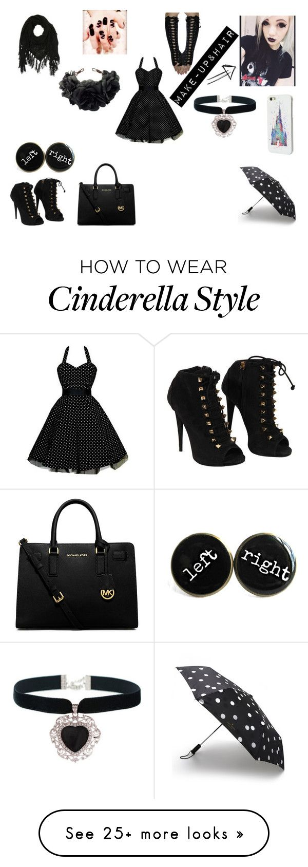 """Untitled #10"" by pastel-potato on Polyvore featuring Giuseppe Zanotti, Disney, Kate Spade, Rock 'N Rose, Charlotte Russe and MICHAEL Michael Kors"