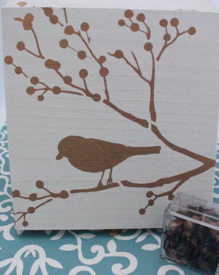 Tea Sample Set - Samples - Tea - Black - Oolong - Green - Herbal - Stencilled Box - Tea Chest - Gift Set by wildheathertea on Etsy