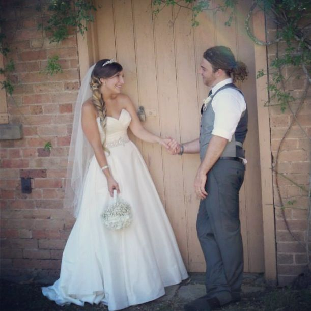 Bride and groom.