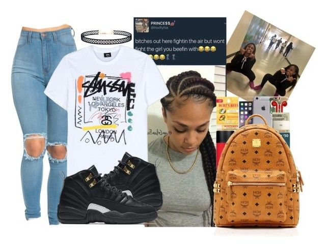 """""""✨"""" by seanarice ❤ liked on Polyvore featuring Stussy, NIKE, LULUS and MCM"""