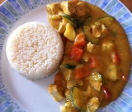 Rezept Curryhähnchen mit Reis (auch WW) 11 PP von meusterin - Rezept der Kategorie Hauptgerichte mit Fleisch