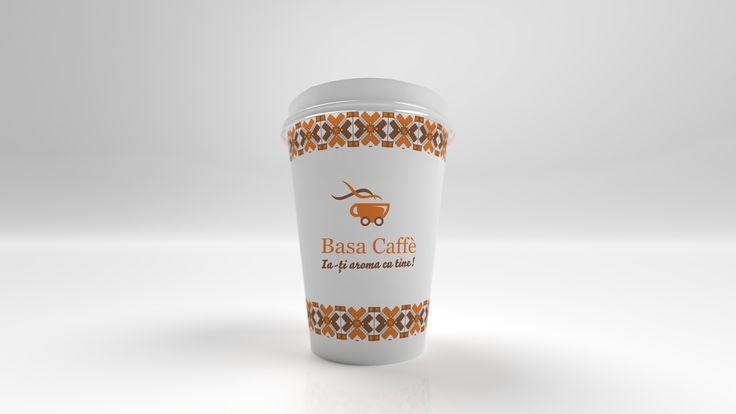 Simulare 3D pahar cafea.