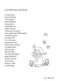 La farfalletta (La vispa Teresa) - Filastrocca