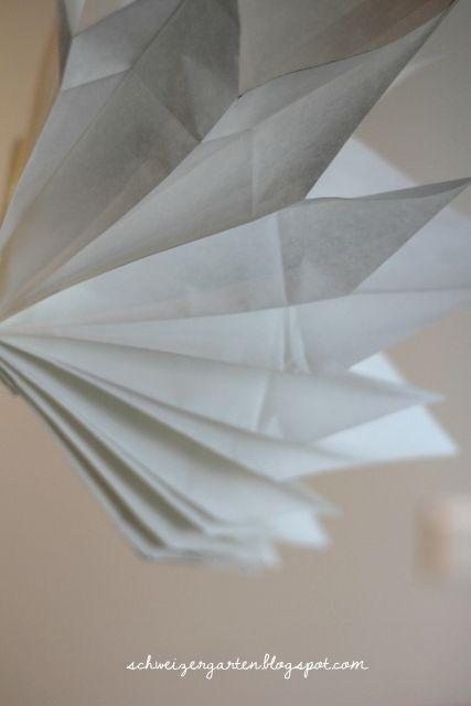 Ein Schweizer Garten: DIY - schneller Papierstern