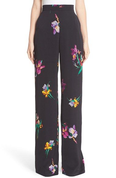 Free shipping and returns on Etro Bird & Floral Print Palazzo Pants at Nordstrom.com. Etro signals that spring is near with wide-leg palazzo pants printed with colorful iris blooms and perched birds. A partially elasticized waist enhances the sophisticated ease of the fluid silhouette.