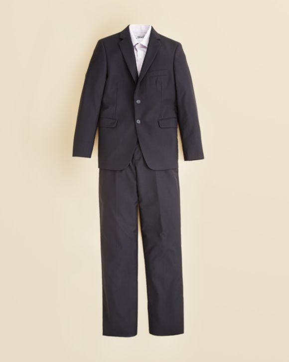 DKNY Boys' Stripe Dress Shirt & Two Piece Navy Shadow Stripe Suit - Sizes 8-20 $250.00