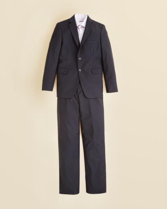 DKNY Boys' Stripe Dress Shirt & Two Piece Navy Shadow Stripe Suit - Sizes 8-20 $250.00