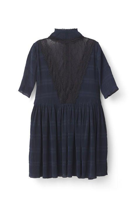 Ganni New Arrivals   McKinney Pleat Dress, Total Eclipse