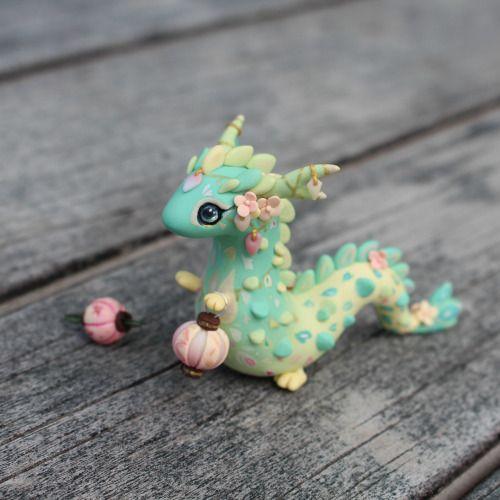 Petit dragon en pâte Fimo