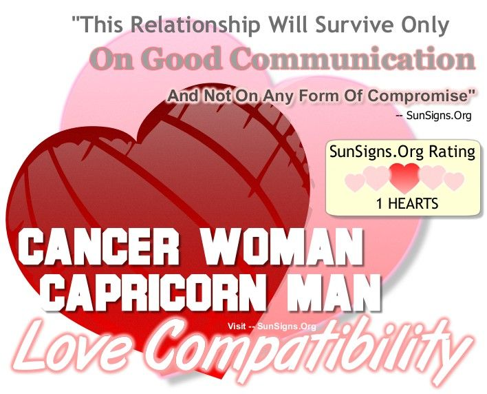Cancer Woman And Capricorn Man - Compromise