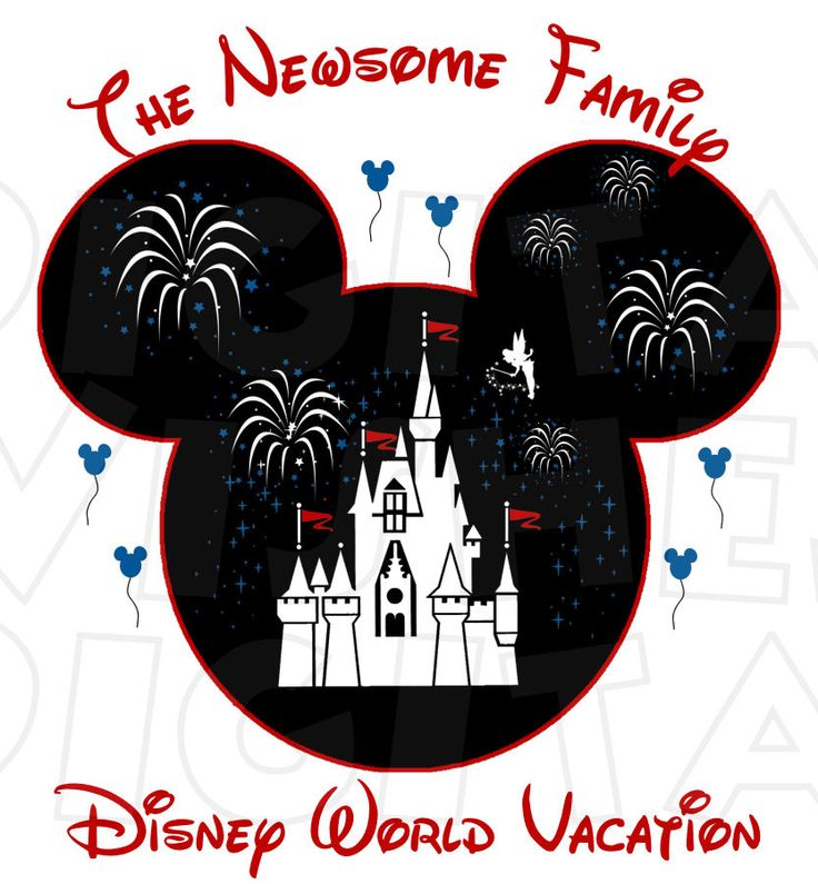 Mickey Mouse Head with Magic Kingdom Castle Vacation ...