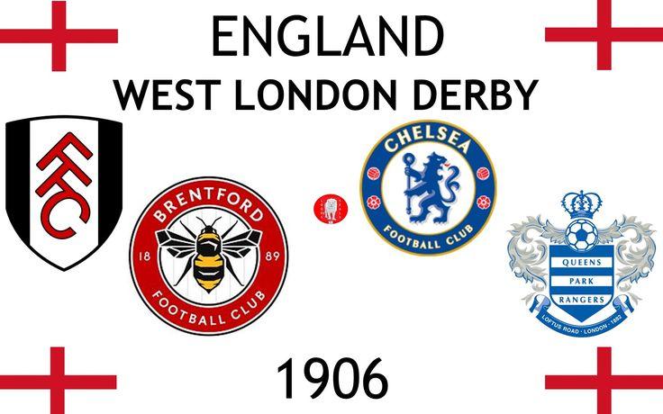 1906, England (1st WEST LONDON DERBY), Brentford F.C., Chelsea F.C., Fulham F.C., Queens Park Rangers F.C. #England (L18777)