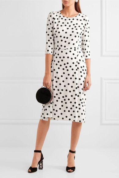 Dolce & Gabbana - Polka-dot Cady Dress - White - IT36