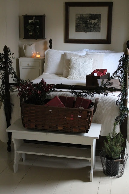Guest Bedroom at Christmas. Omg!  how could I have forgotten about decorating the guest room?