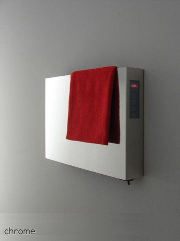 """This towel warmer is not for your ordinary bath!  Very contemporary, sleek design.  Amba Elory E-2113 Hardwired Mounted Contemporary Towel Warmer / Towel Dryer - 20.5""""w x 13.25""""h"""