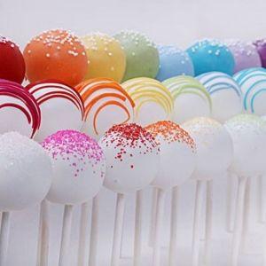 Trio design Rainbow cake pops