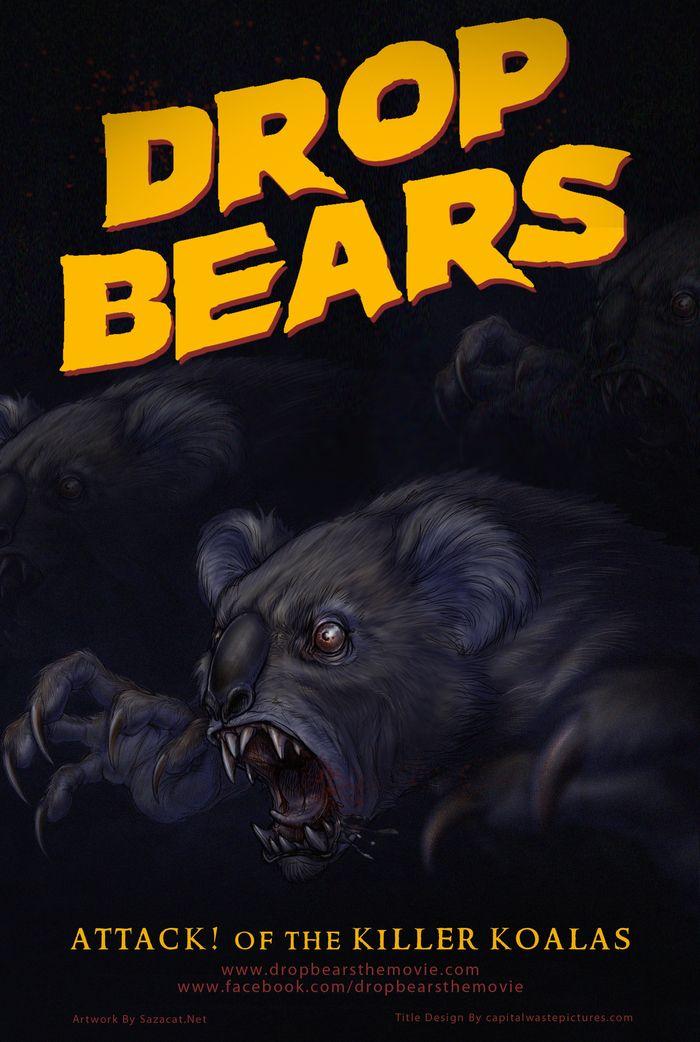 DROP BEARS - Attack! of the Killer Koalas - concept poster