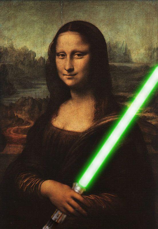 Mona Lisa at war... #monalisa #saber