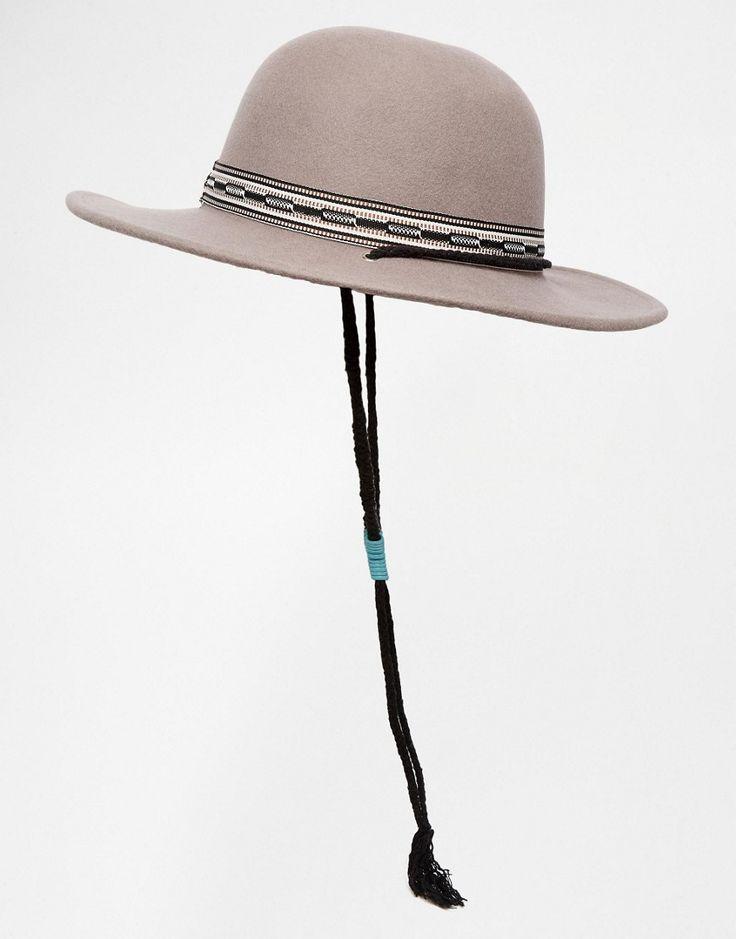 Imagen 4 de Sombrero de fieltro con banda trenzada de algodón y cuentas de turquesas de Brixton