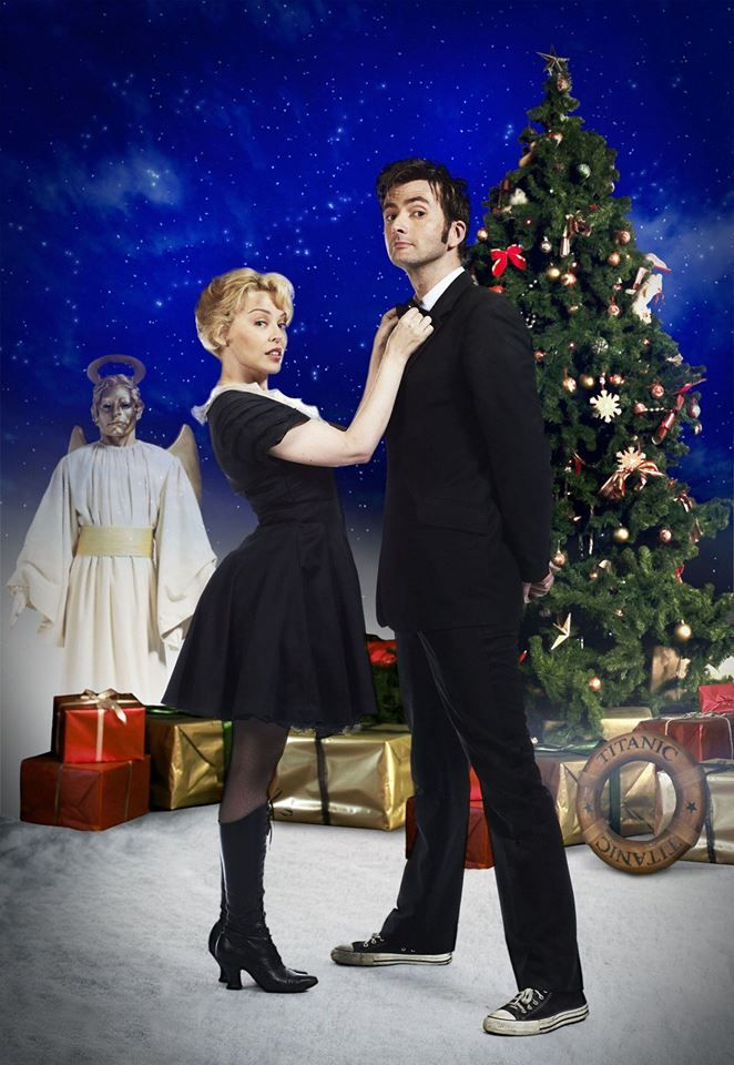 PHOTO OF THE DAY - 22nd December 2016: David Tennant & Kylie Minogue in Doctor Who - Voyage Of The Damned (2007)